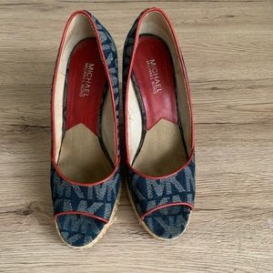 Michael Kors wedge denim woman shoes